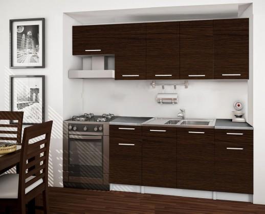 Rovná Basic - kuchyňský blok A, 220 cm (wenge)