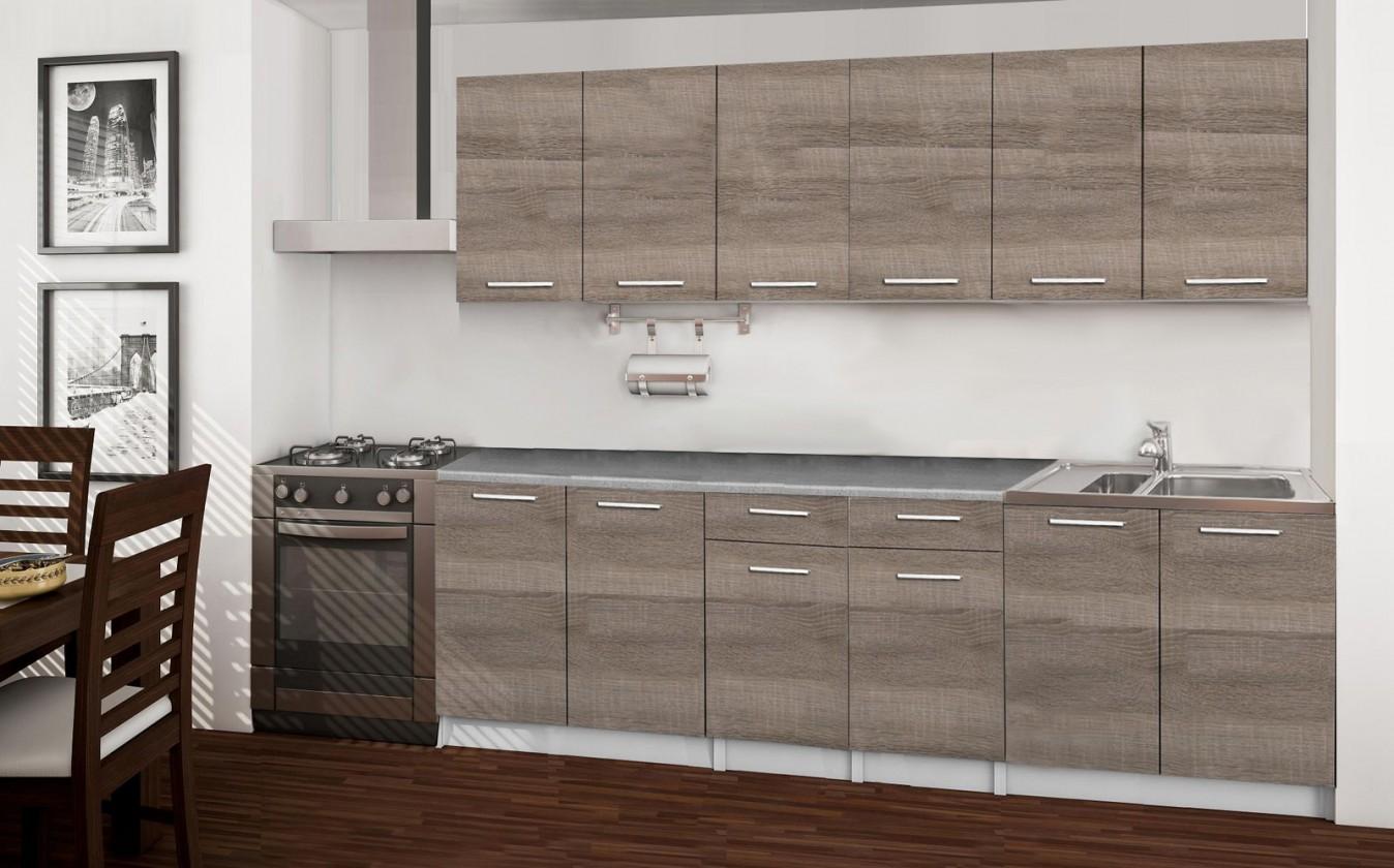 Rovná Basic - kuchyňský blok A, 240 cm (dub truffle)