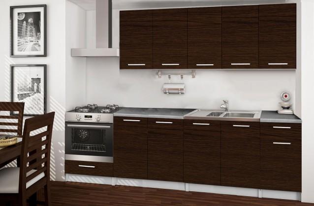 Rovná Basic - kuchyňský blok A, 260 cm (wenge)