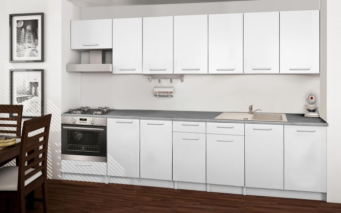 Rovná Basic - kuchyňský blok A 300 cm