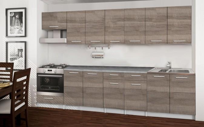 Rovná Basic - kuchyňský blok A, 300 cm (dub truffle)