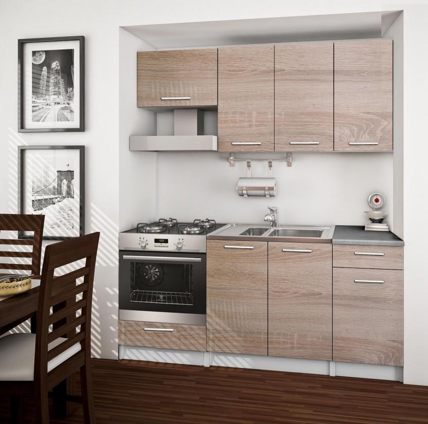 Rovná Basic - kuchyňský blok B, 180 cm (dub sonoma)
