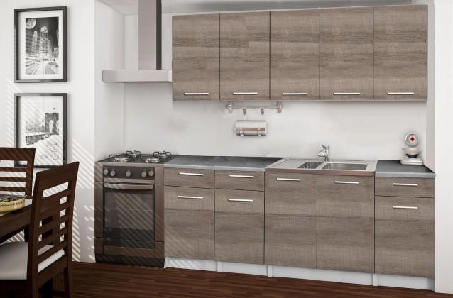 Rovná Basic - kuchyňský blok B, 200 cm (dub truffle)