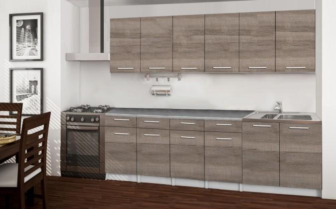 Rovná Basic - kuchyňský blok B, 240 cm (dub truffle)