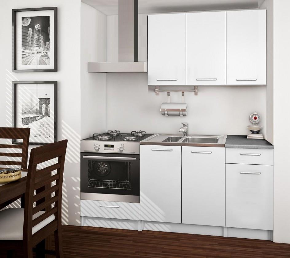 Rovná Basic - kuchyňský blok C, 180 cm (bílá)