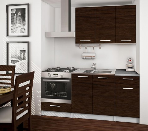 Rovná Basic - kuchyňský blok C, 180 cm (wenge)