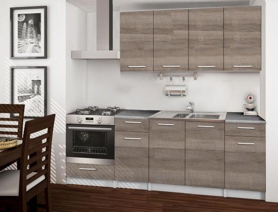 Rovná Basic - kuchyňský blok C, 220 cm (dub truffle)