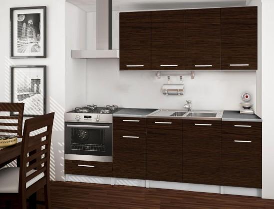 Rovná Basic - kuchyňský blok C, 220 cm (wenge)