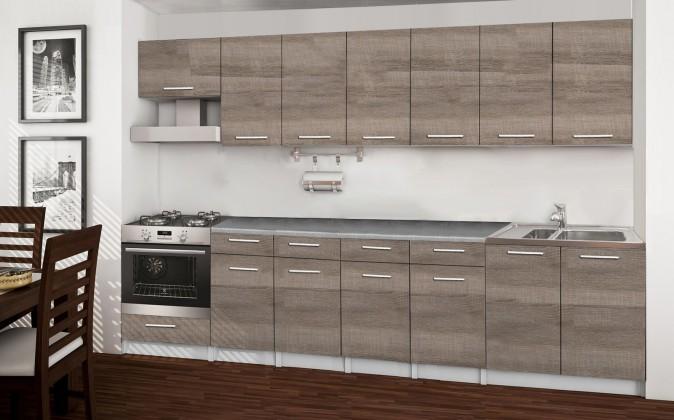 Rovná Basic - kuchyňský blok D, 300 cm (dub truffle)