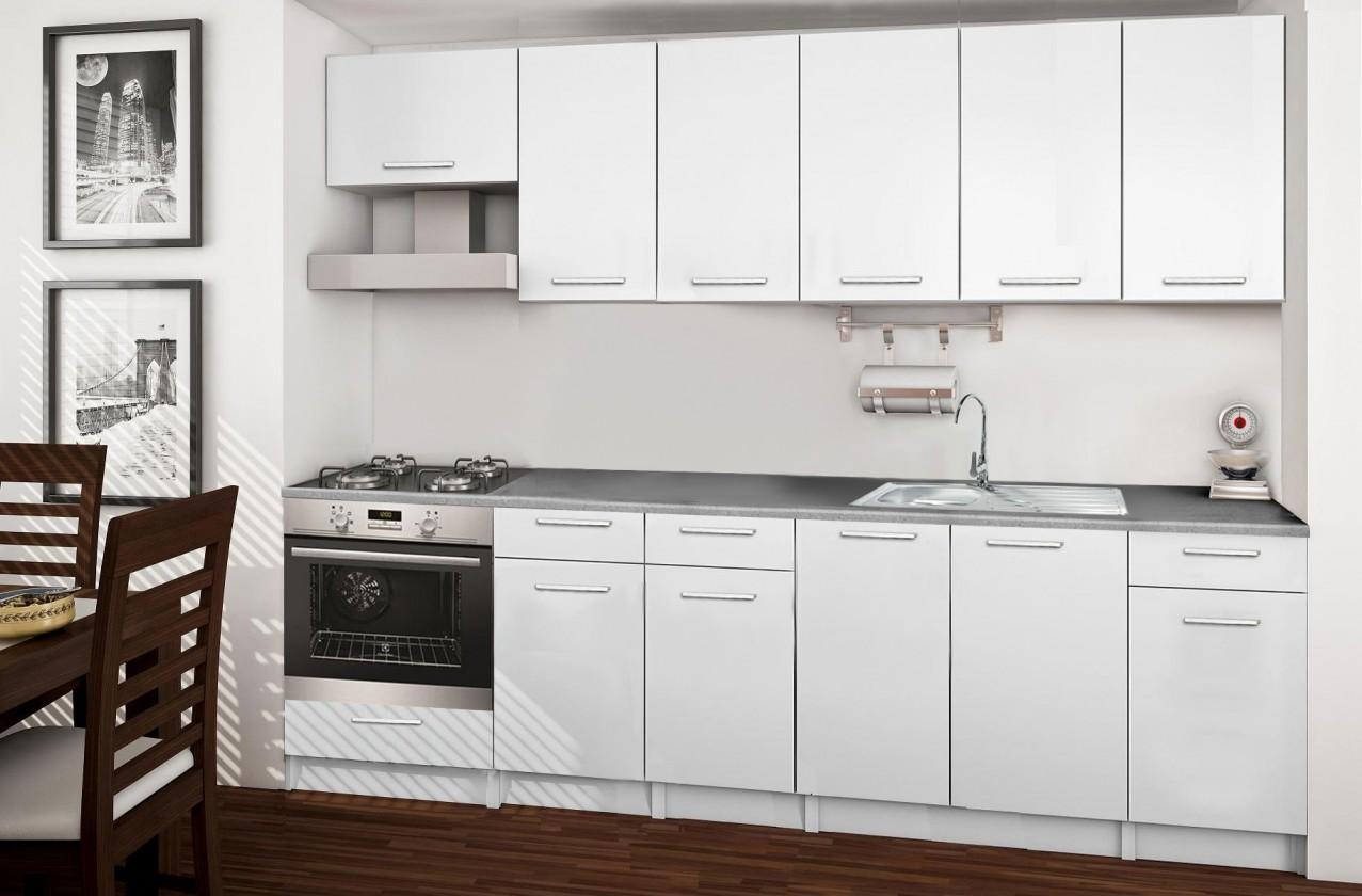 Rovná Basic - kuchyňský blok E 260 cm
