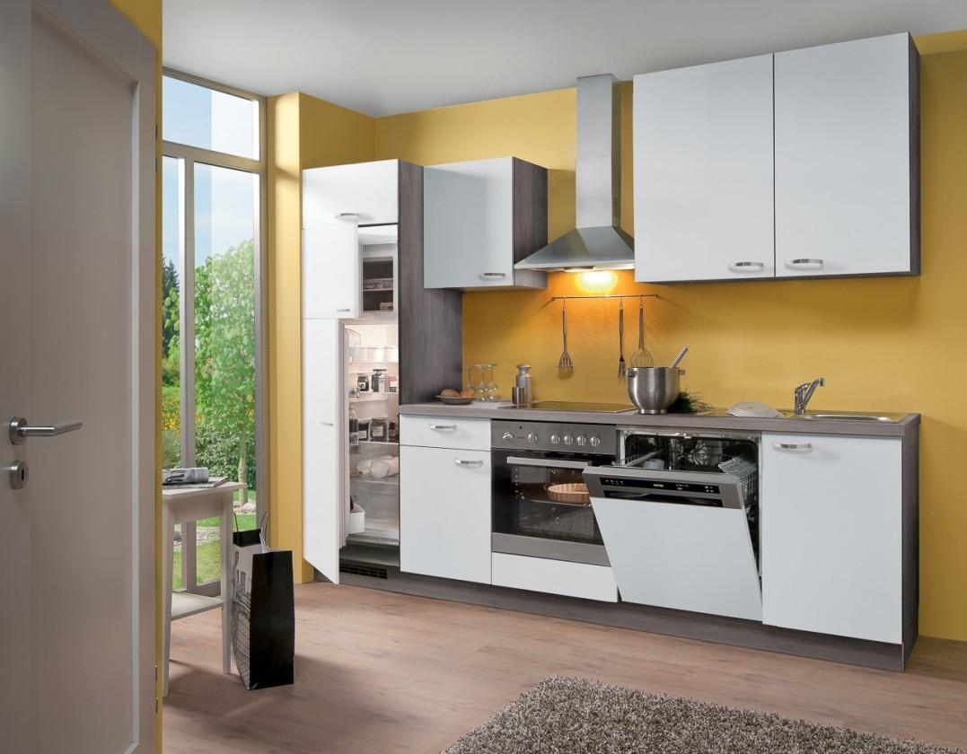 Rovná Blues - Kuchyňský blok, 2,8 m (bílá)