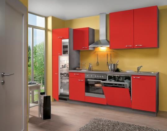 Rovná Blues - Kuchyňský blok, 2,8 m (červená)