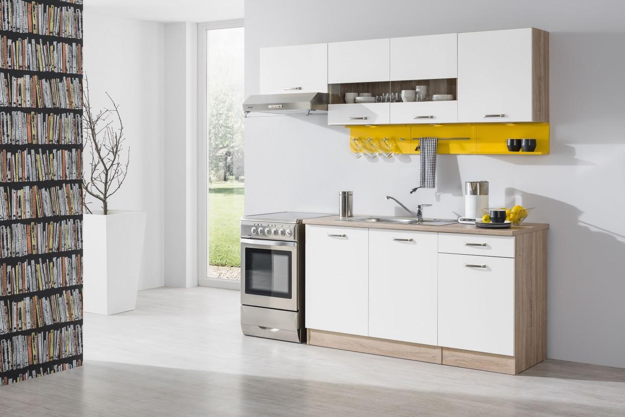 Rovná Bria - Kuchyňský blok 210 A (bardolino/bílá lesk/PD bardolino)