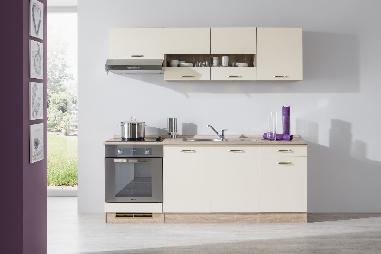 Rovná Bria - Kuchyňský blok 210 B (bardolino/vanilka lesk/bardolino)