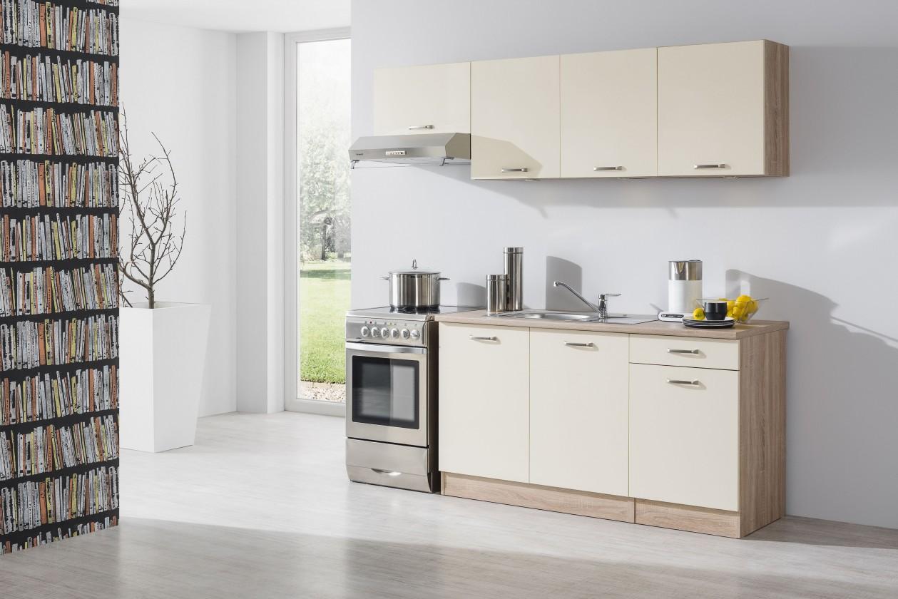 Rovná Bria - Kuchyňský blok 210 C (bardolino/vanilka lesk/bardolino)