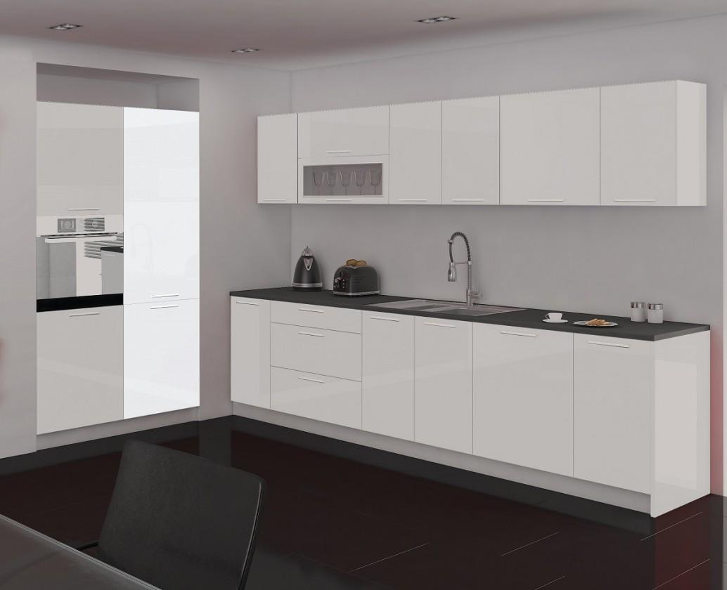 Rovná Emilia - Spižní skříň, 60 cm (bílá)