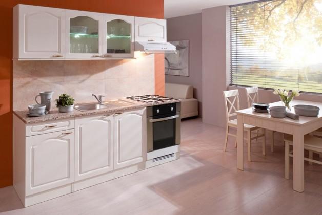 Rovná Julia - Kuchyňský blok 210 B (vanilka/magnolie/PD tropica beige)