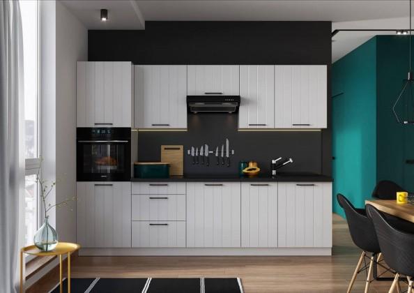 Rovná Kuchyně Grace 280 cm (bílá mat)