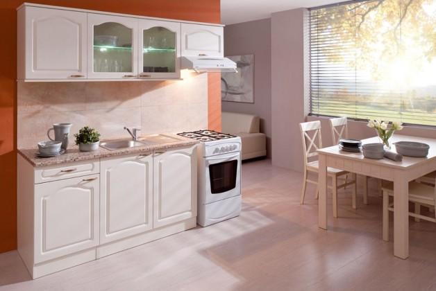 Rovná Kuchyně Julia - 210 cm (vanilka/magnolie/tropica beige)