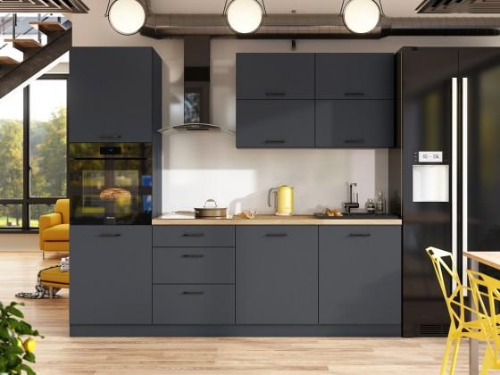 Rovná Kuchyně Lisa - 240 cm (šedá)