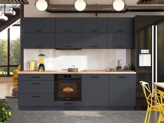 Rovná Kuchyně Lisa - 260 cm (šedá)