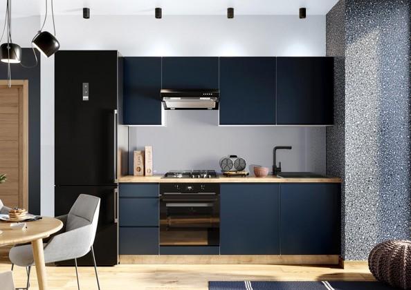 Rovná Kuchyně Minea 220 cm (modrá mat)