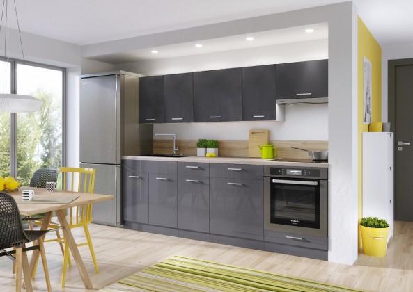 Rovná Kuchyně Modern Lux - 240 cm (šedá)