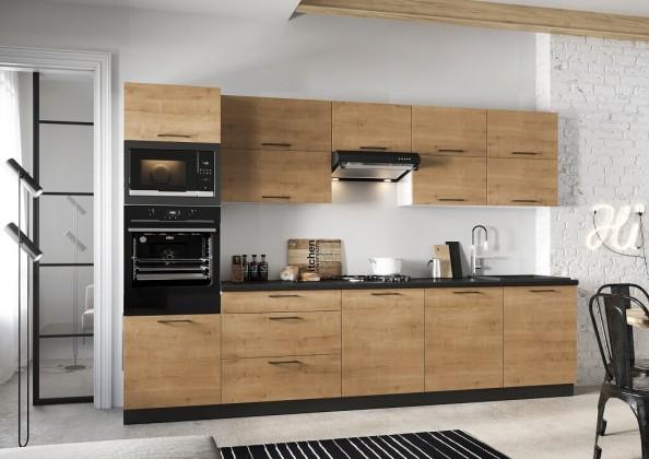 Rovná kuchyně natali 320 cm (dub lefkas)