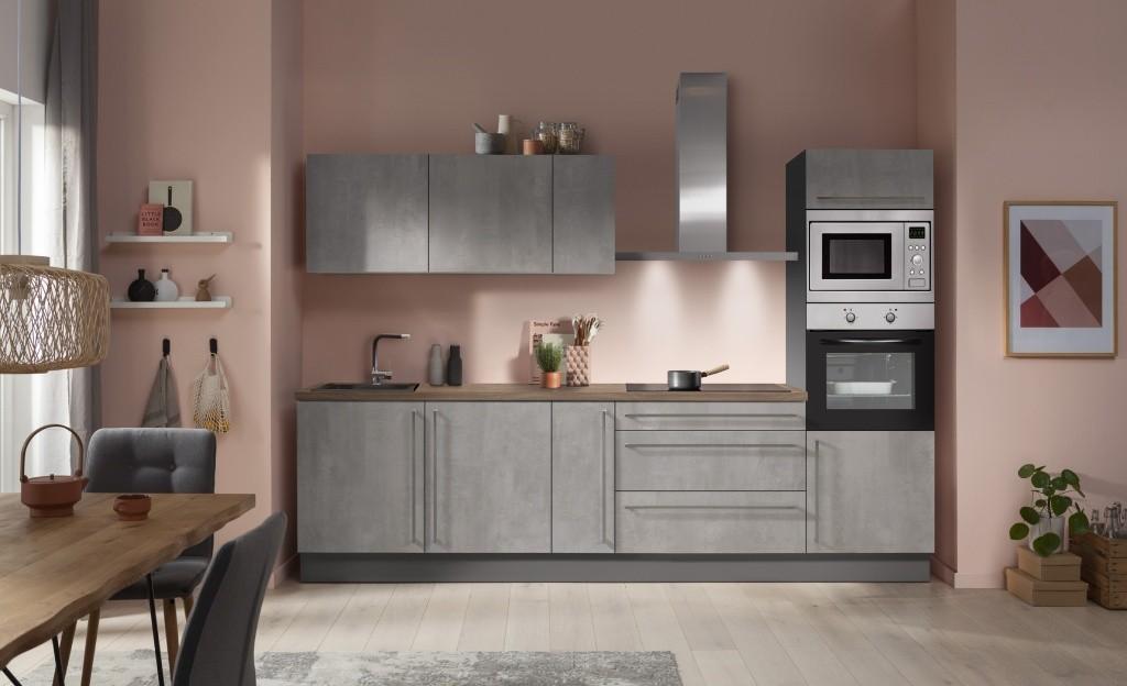 Rovná Kuchyně Ute 300 cm (světlý beton)