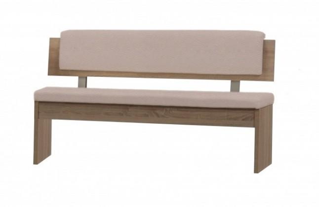Rovná lavice Lavice Aniz s opěradlem - rovná