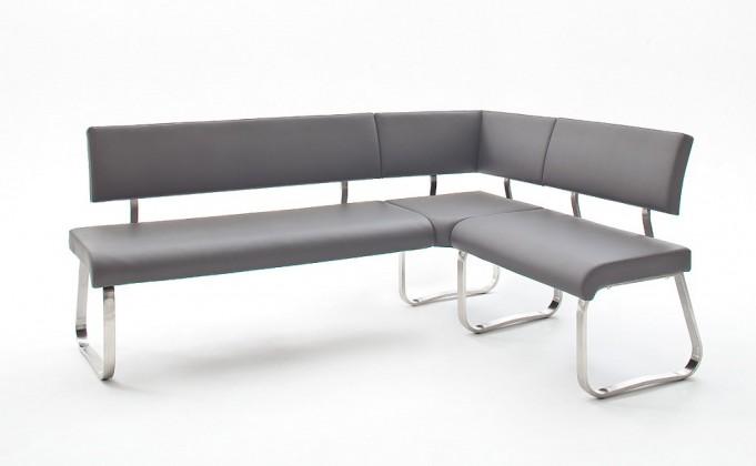 Rovná lavice rohová jídelní lavice lucile šedá