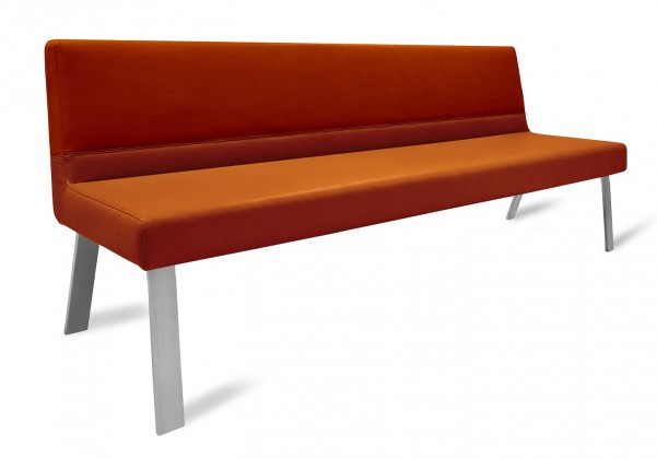 Rovná lavice Sam 180  (4 nohy/montana rezavá)