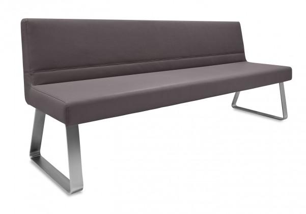 Rovná lavice Sam 180  (kluzáky/kůže nebraska hnědá)
