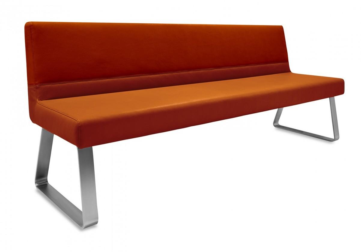 Rovná lavice Sam 180  (kluzáky/montana rezavá)