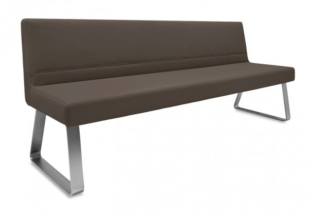 Rovná lavice Sam 180  (kluzáky/montana tmavě hnědá)
