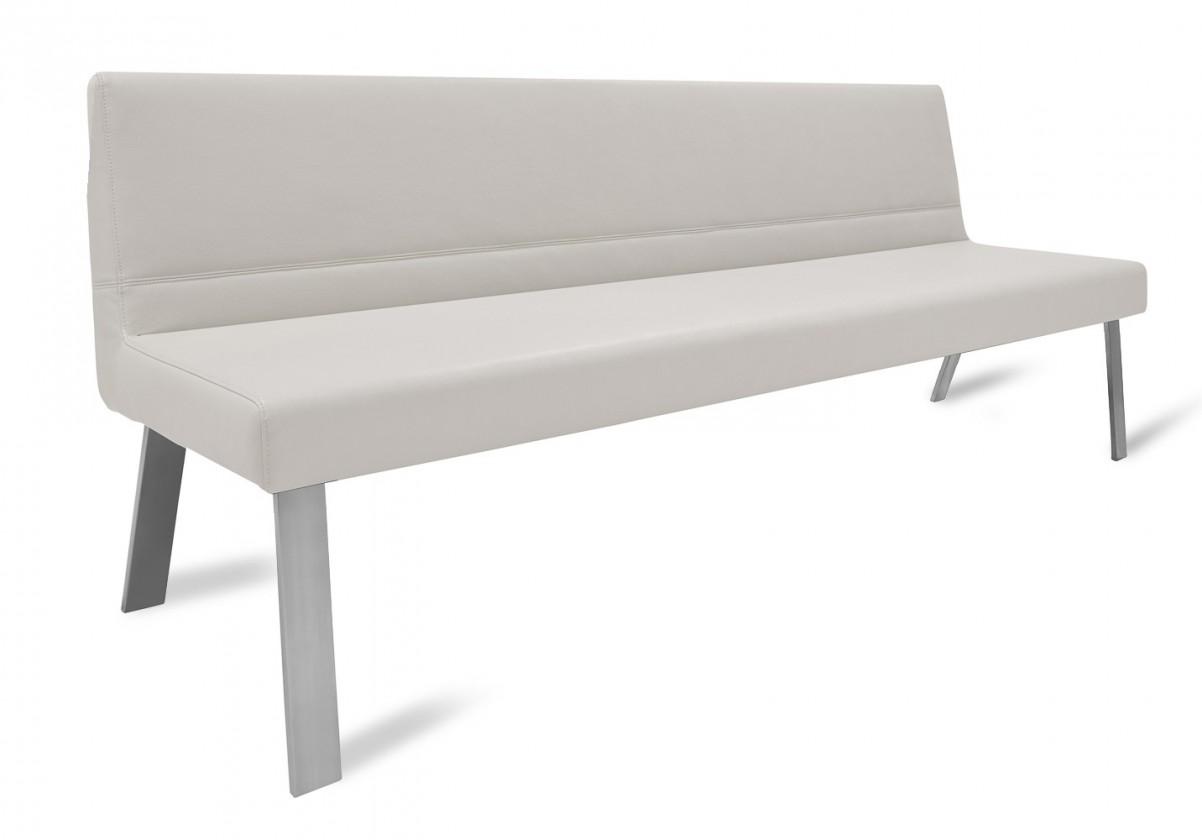 Rovná lavice Sam 220  (4 nohy/eko kůže hawaii světle hnědá)