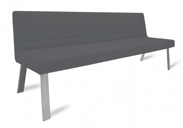 Rovná lavice Sam 220  (4 nohy/kůže nebraska černá)
