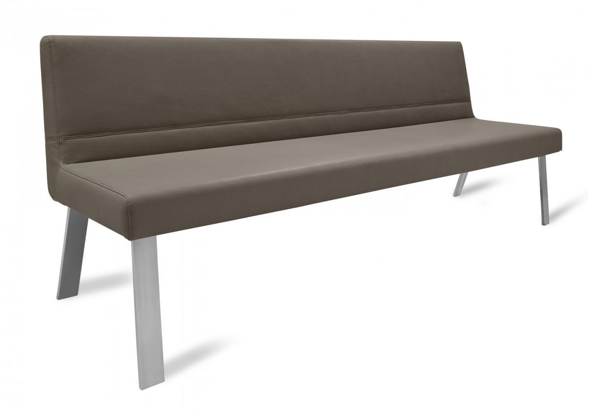 Rovná lavice Sam 220  (4 nohy/kůže nebraska hnědá)