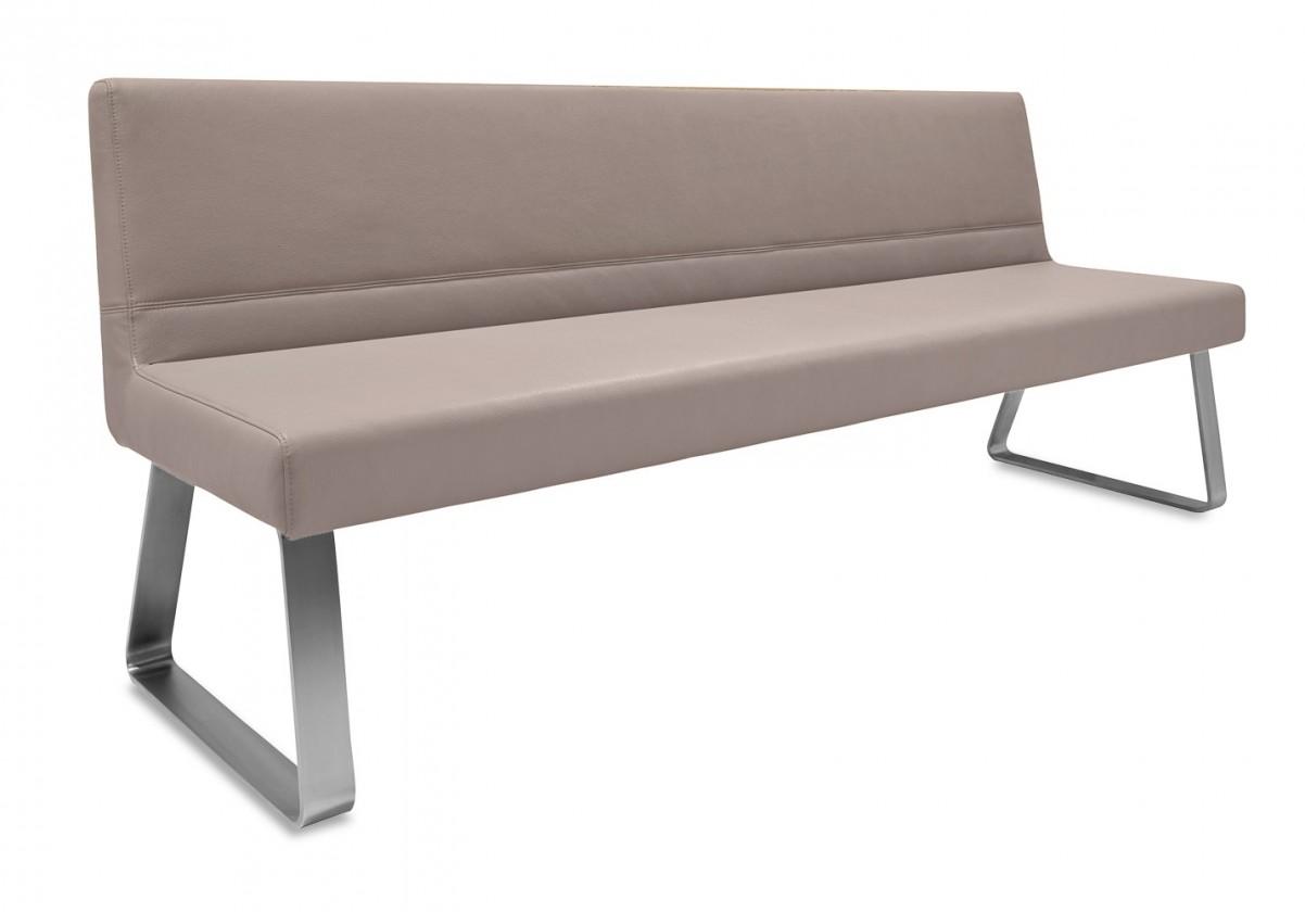 Rovná lavice Sam 220  (kluzáky/montana cappucino)