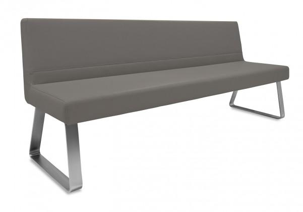 Rovná lavice Sam 220  (kluzáky/montana šedá)