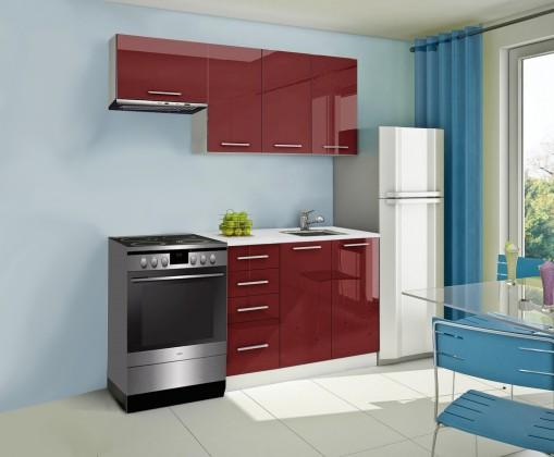 Rovná Mondeo - kuchyňský blok A 180/120 cm (pracovní deska - mramor)