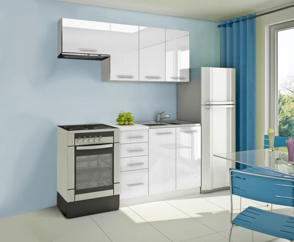Rovná Mondeo - Kuchyňský blok A, 180 cm (bílá, lesk)