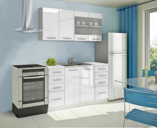 Rovná Mondeo - Kuchyňský blok B, 160 cm (bílá, lesk)