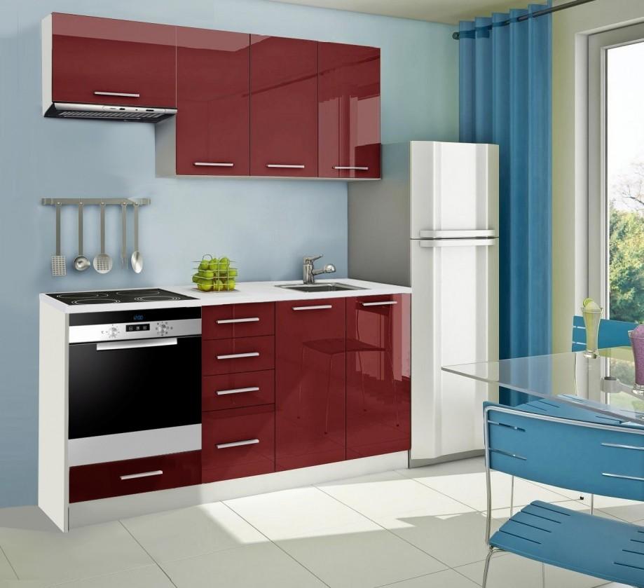 Rovná Mondeo - kuchyňský blok B 180 cm (pracovní deska - mramor)