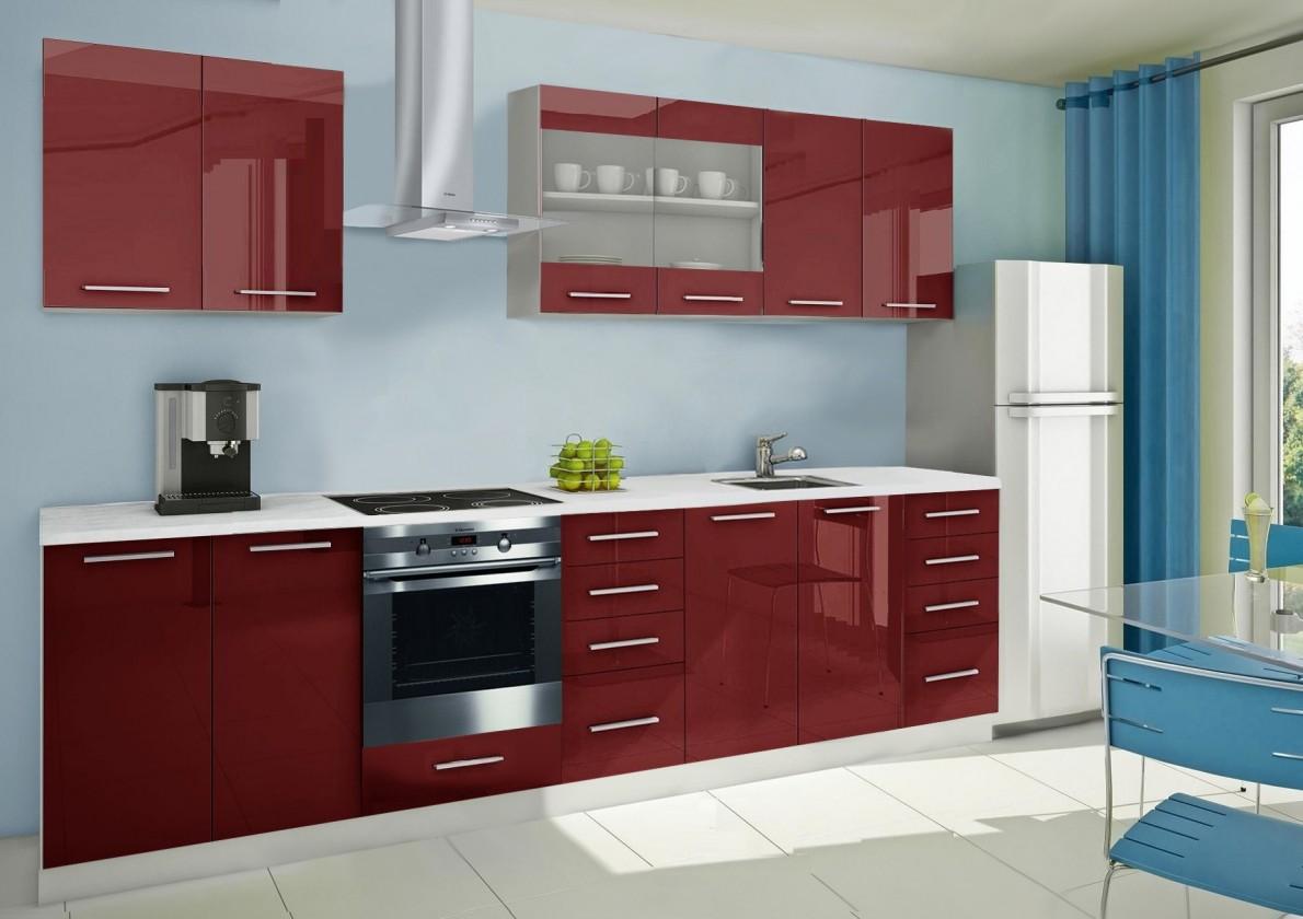 Rovná Mondeo - kuchyňský blok B 240/300 cm (pracovní deska - mramor)