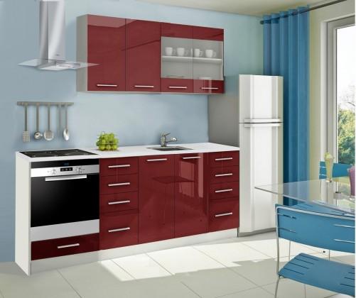 Rovná Mondeo - kuchyňský blok C 160/220 cm (pracovní deska - mramor)