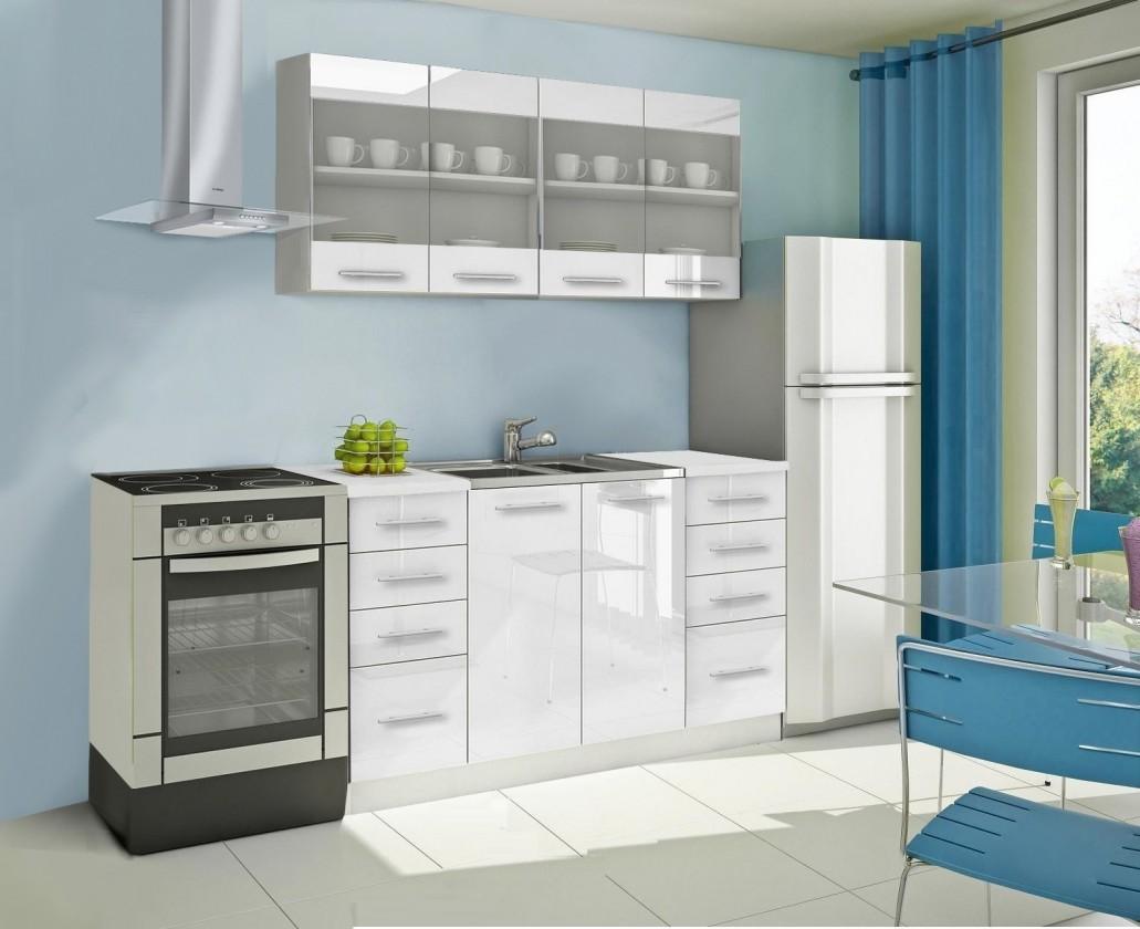 Rovná Mondeo - Kuchyňský blok C, 160 cm (bílá, lesk)