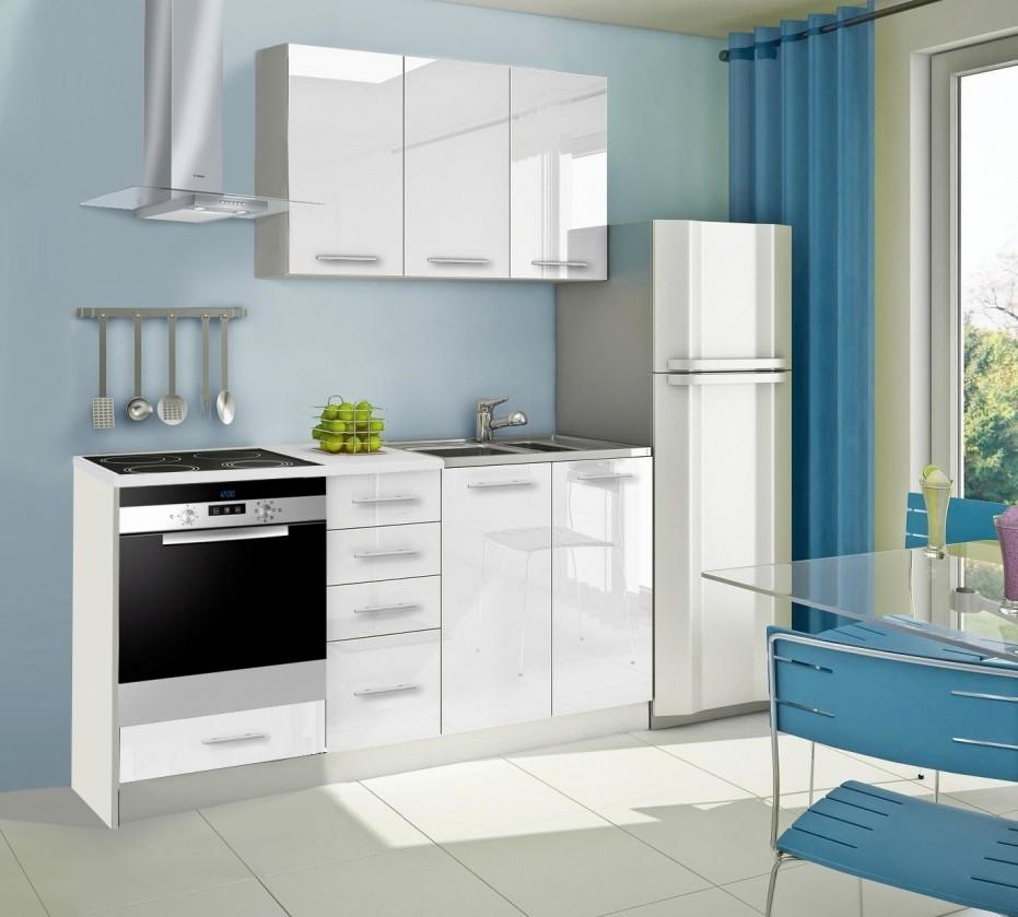 Rovná Mondeo - Kuchyňský blok C, 180 cm (bílá, lesk)