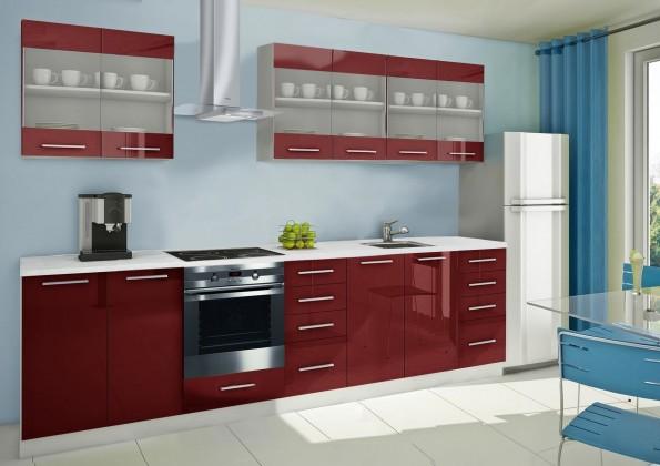 Rovná Mondeo - kuchyňský blok D 240/300 cm (pracovní deska - mramor)
