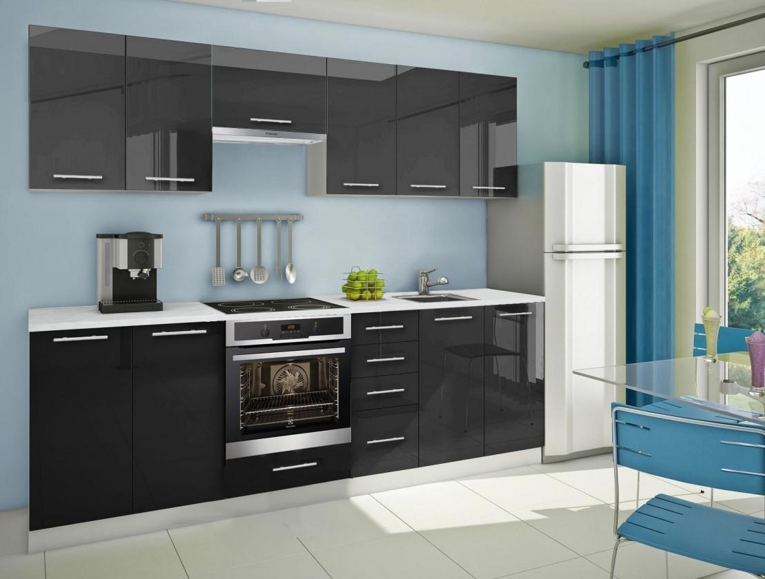 Rovná Mondeo - Kuchyňský blok G, 260cm (černá)